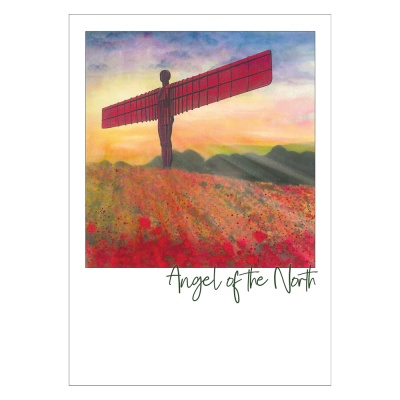 Angel of the North Poppies Post Card