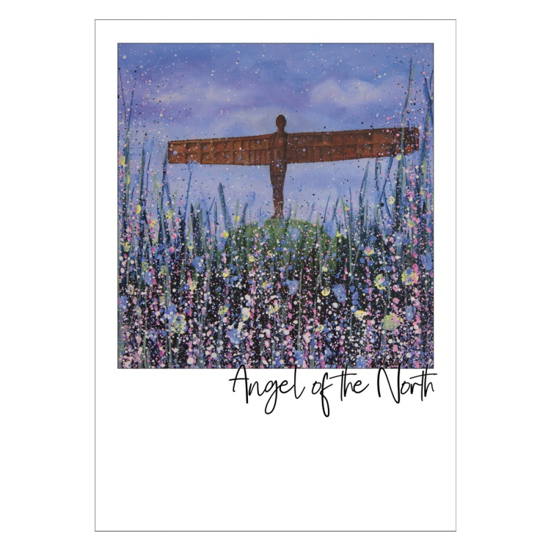 Angel of the North (Flowers) Postcard