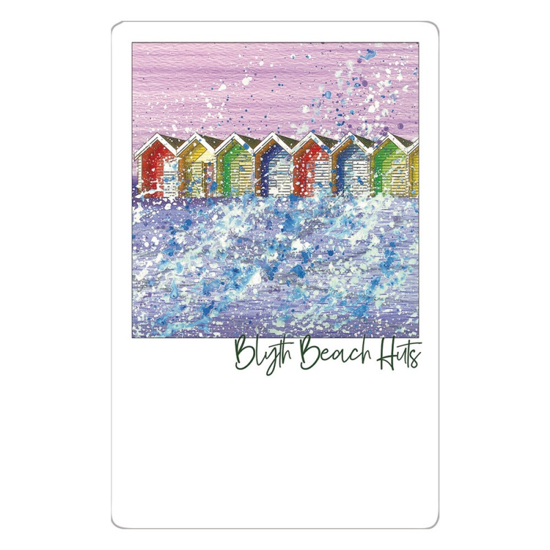 Beach Huts Post Card