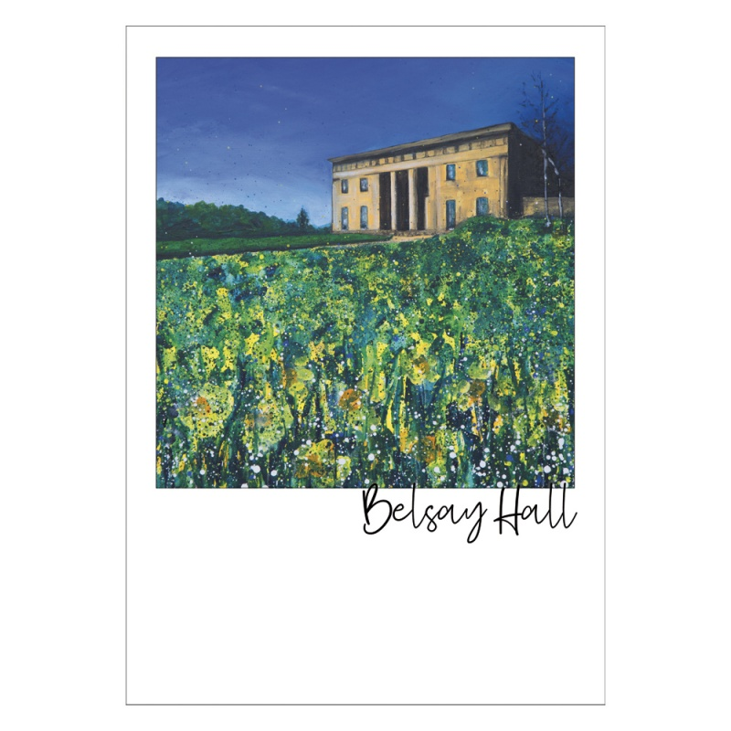 Belsay Hall Post Card