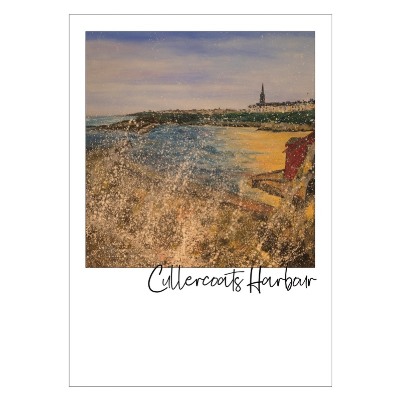 Cullercoats Harbour Postcard
