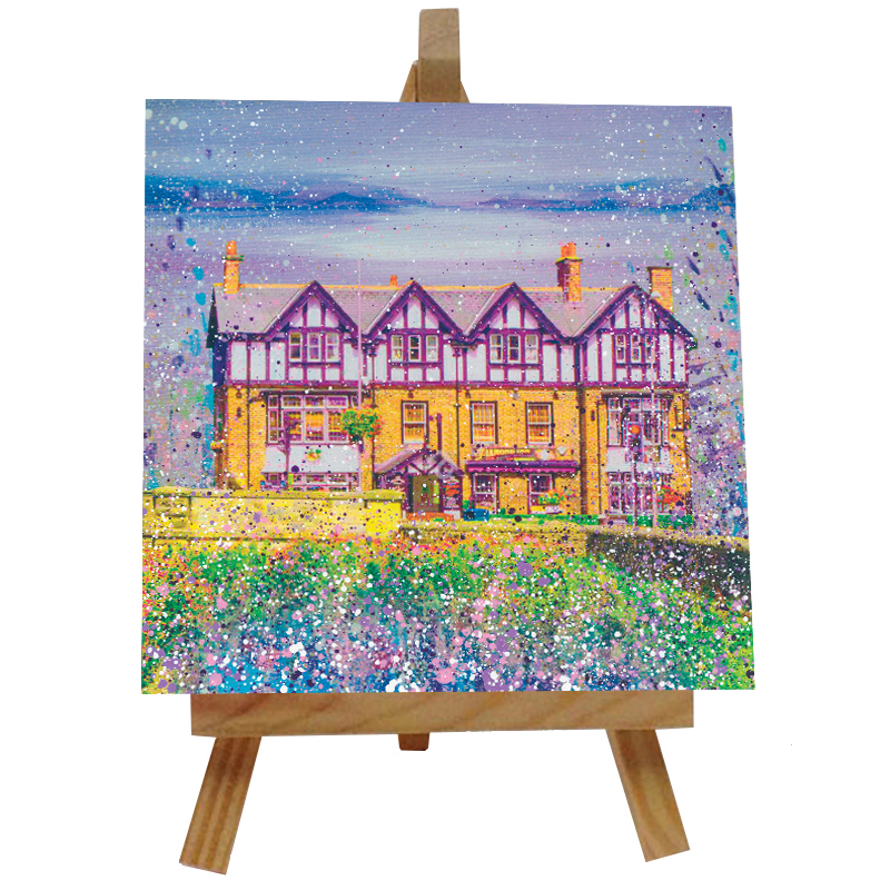 The Diamond Ponteland Tile with Easel