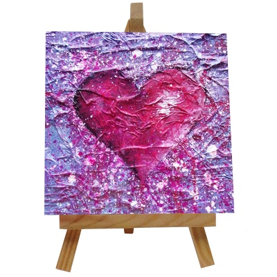 Love Purple Tile with Easel