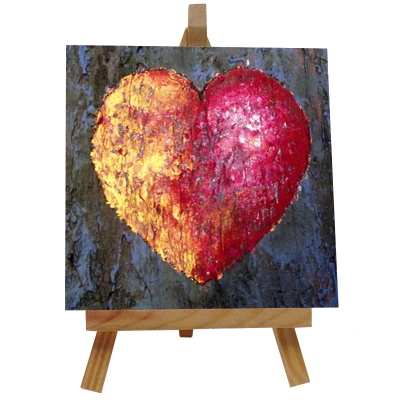 Love Tile with Easel