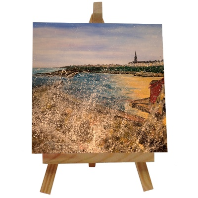 Cullercoats Tile with Easel