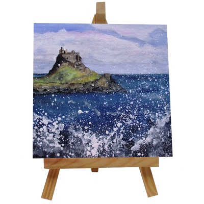 Holy Island Tile with Easel