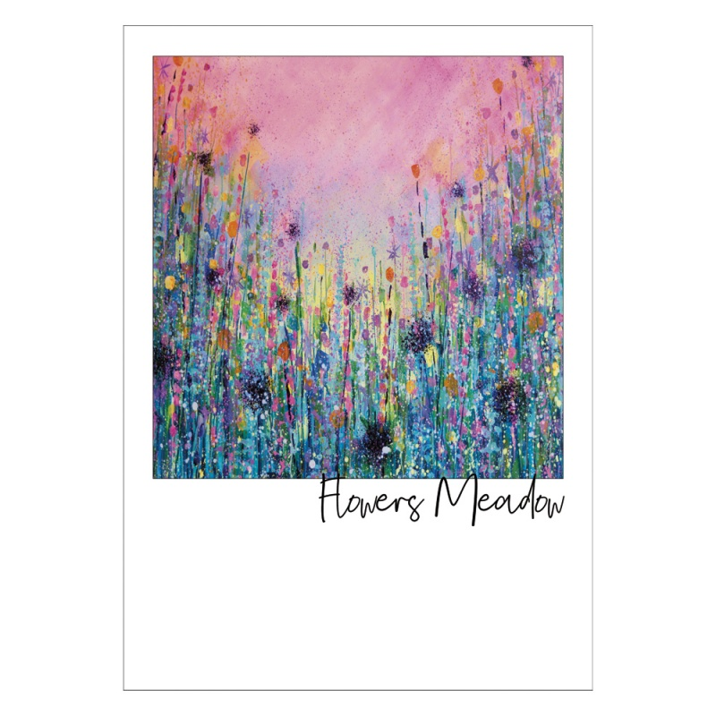 Flowers Meadow Postcard