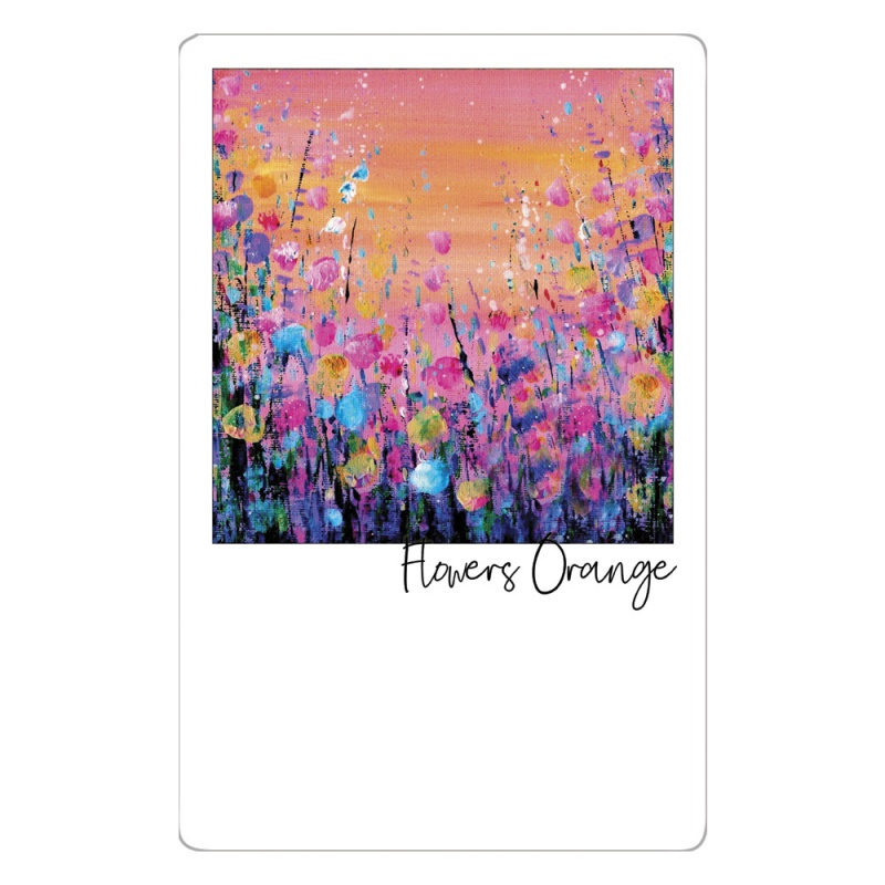 Flowers Orange Magnet