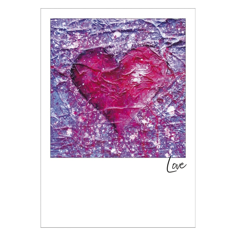 Love Purple Postcard