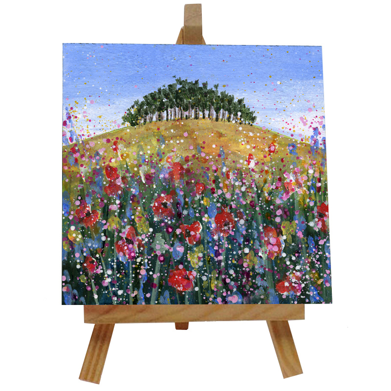 Over the Hill Tile with Easel