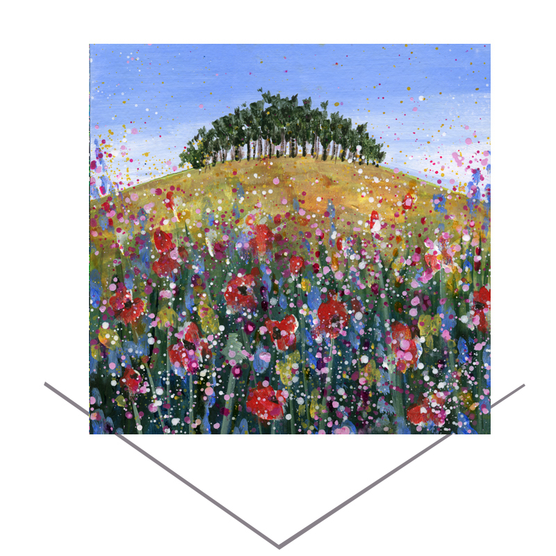 Over the Hill  Greetings Card