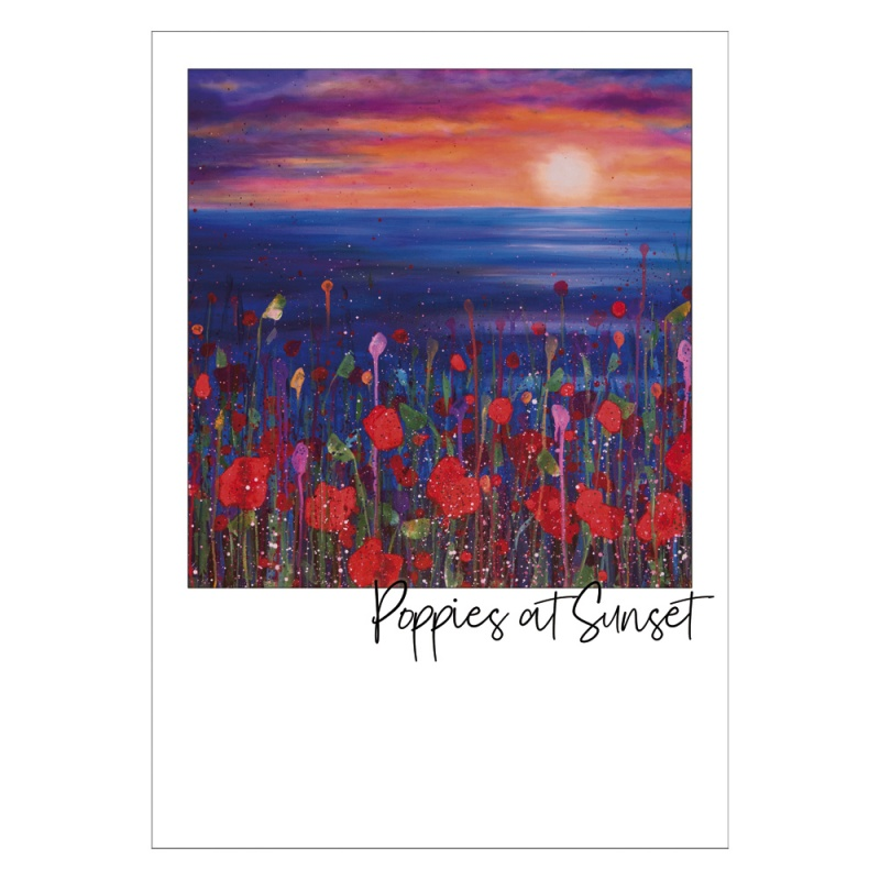 Poppies in the Sunset Postcard