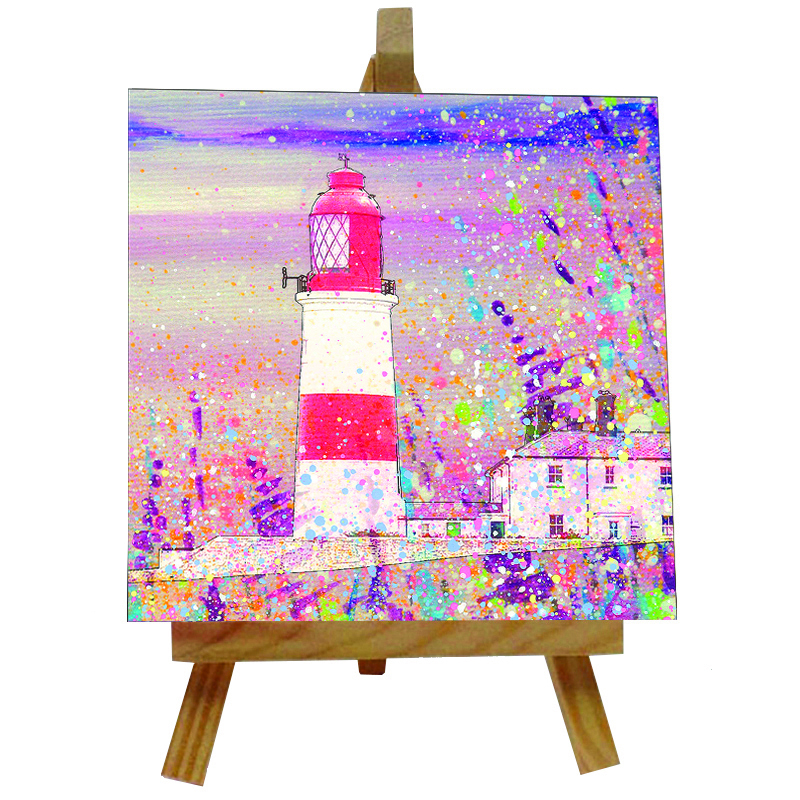 Souter Lighthouse Tile with Easel
