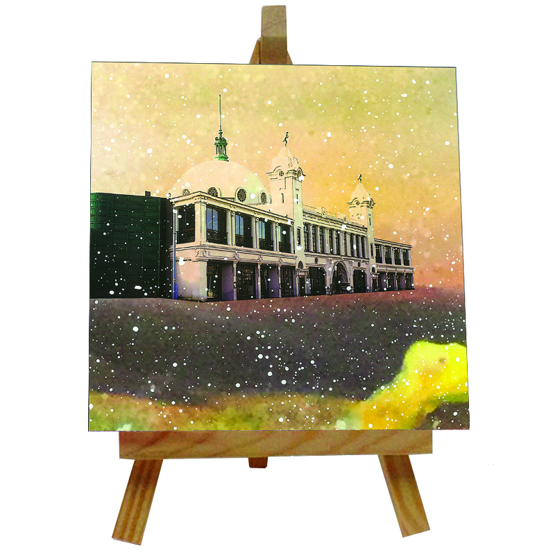 Spanish City Tile with Easel