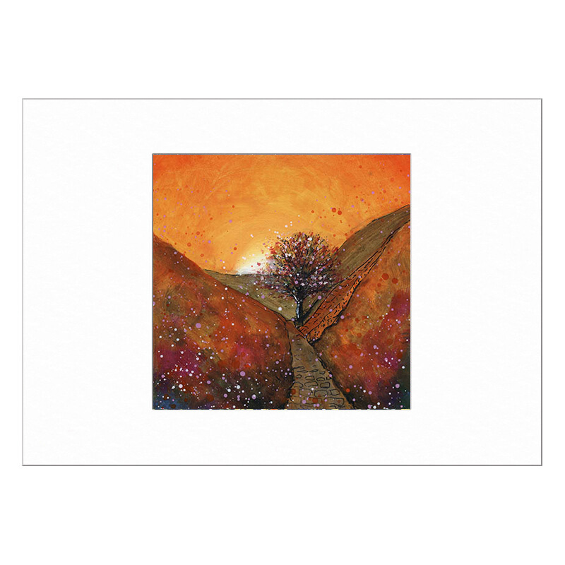 Sycamore Gap Autumn Limited Edition Print 40x50cm