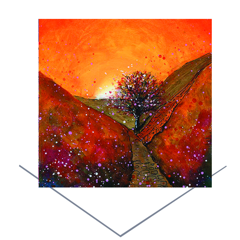 Sycamore Gap Autumn Greetings Card