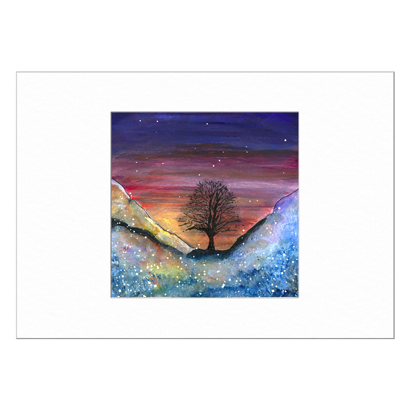 Sycamore Gap Limited Edition Print 40x50cm