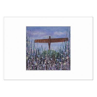 Angel of the North (Flowers) Limited Edition Print 40x50cm