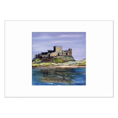 Bamburgh Castle Limited Edition Print 40x50cm