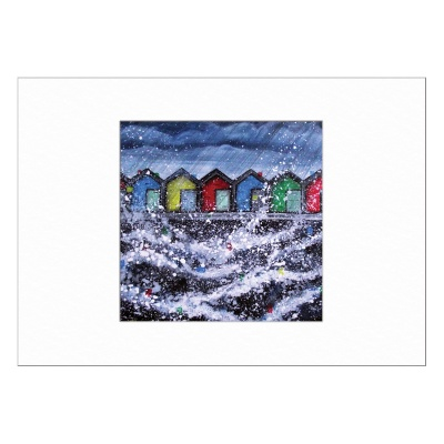 Blyth Beach Huts Limited Edition Print 40x50cm