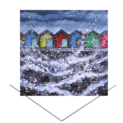Blyth Beach Huts Greeting Card
