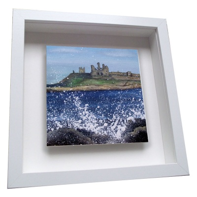Dunstanburgh Castle - Framed Tile