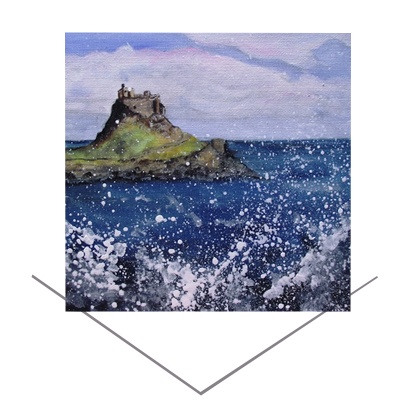 Holy Island Greeting Card
