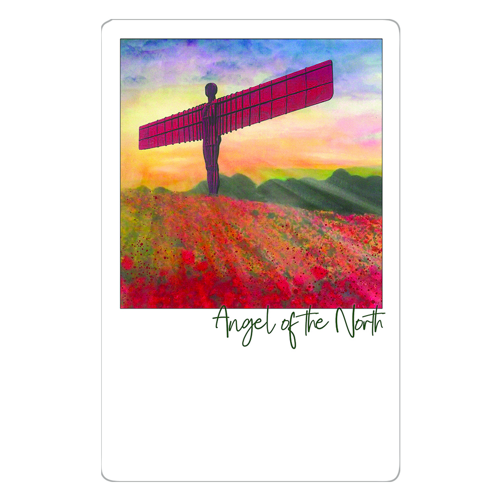 Angel of the North Poppies Magnet
