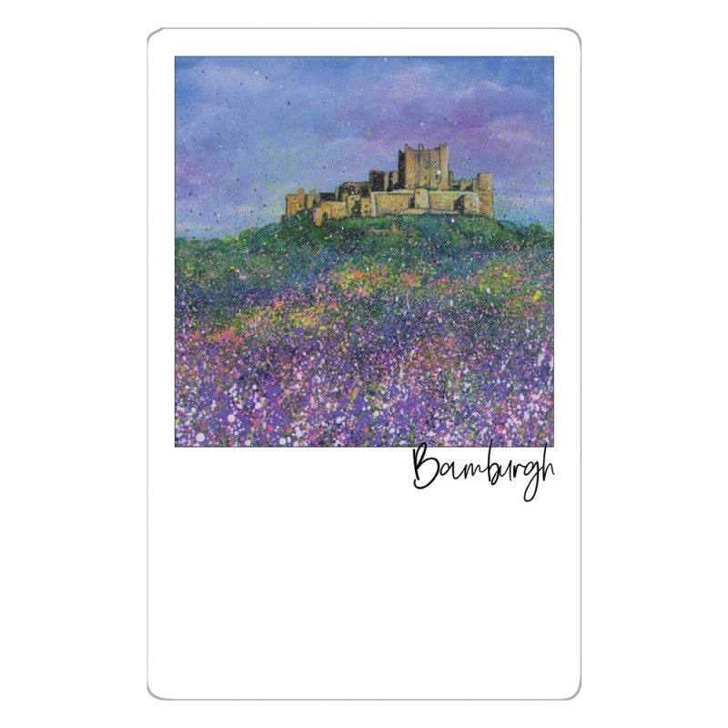 Bamburgh Castle Flowers Magnet
