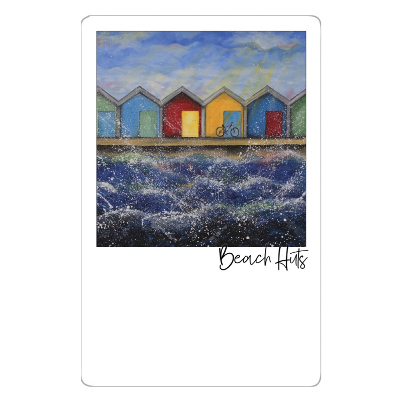 Beach Huts in the Sunshine Magnet