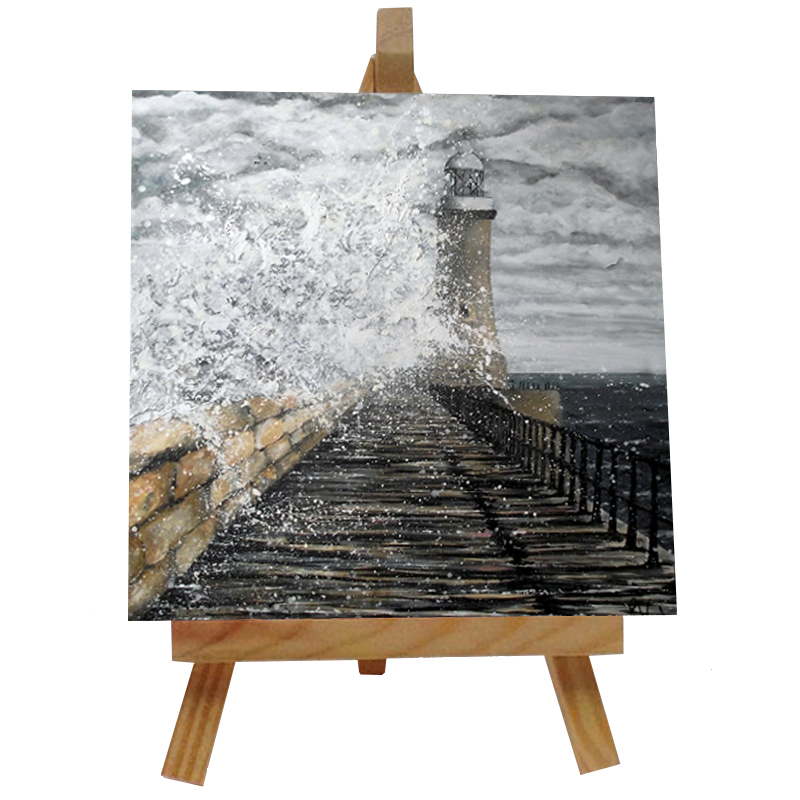 Tynemouth Pier Tile with Easel