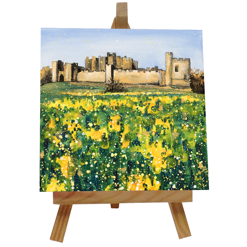 Alnwick Castle Tile with Easel