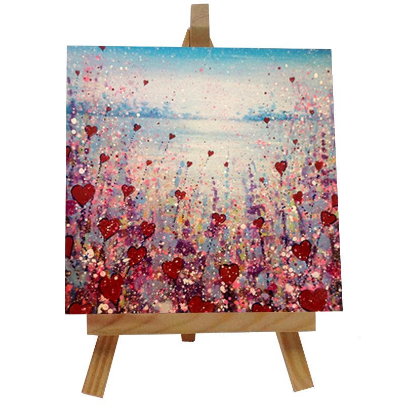 Love Flowers Tile with Easel