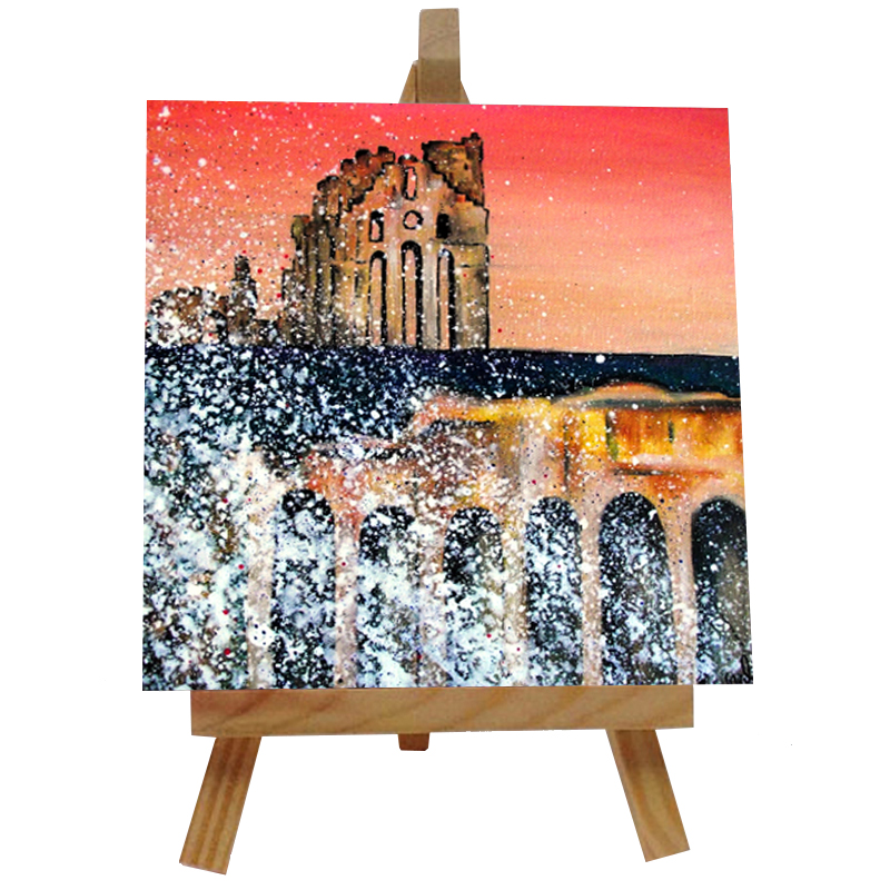 Tynemouth Priory Tile with Easel
