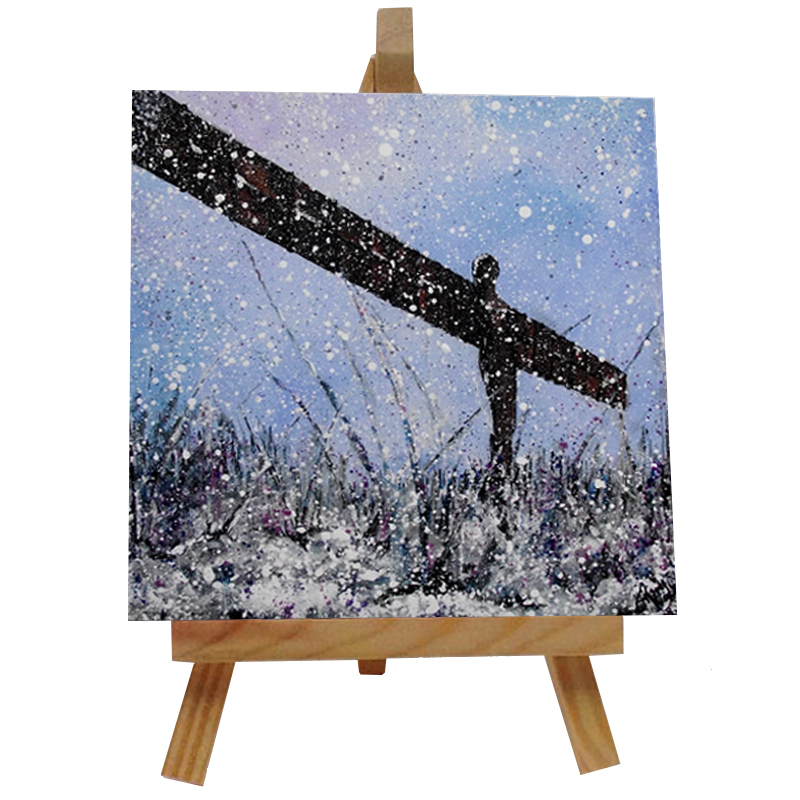 Angel of the North Tile with Easel