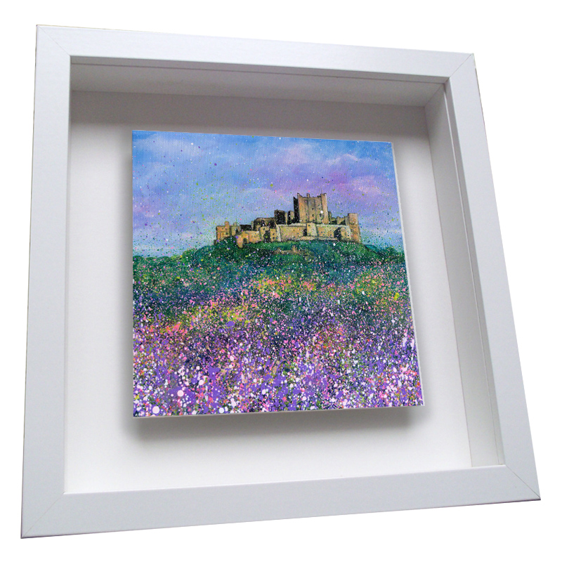 Bamburgh Castle Flowers - Framed