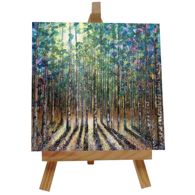 Lees Trees Tile with Easel