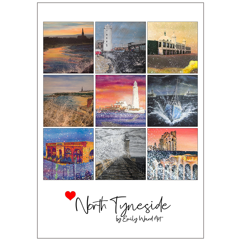 Poster Print Love North Tyneside
