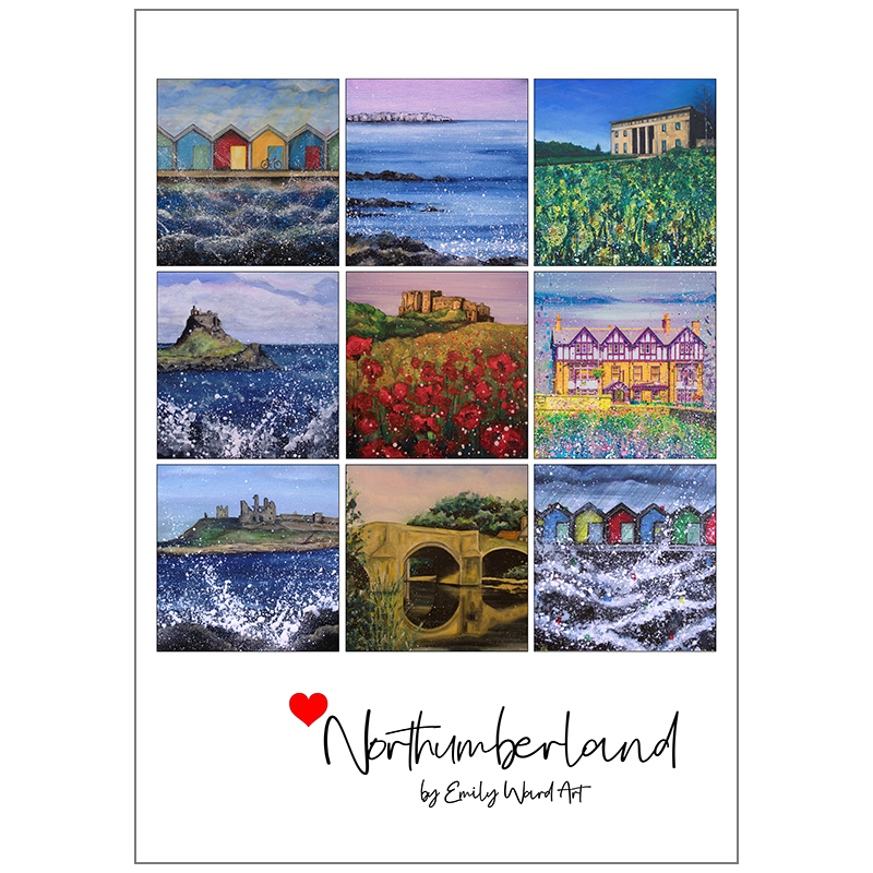 Poster Print Love Northumberland