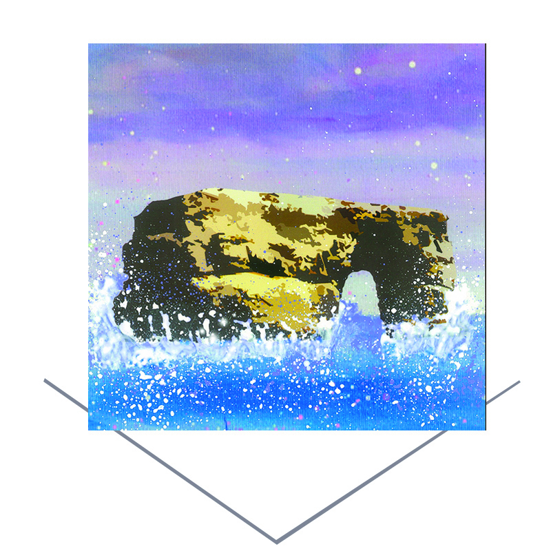 Marsden Rock Greeting Card