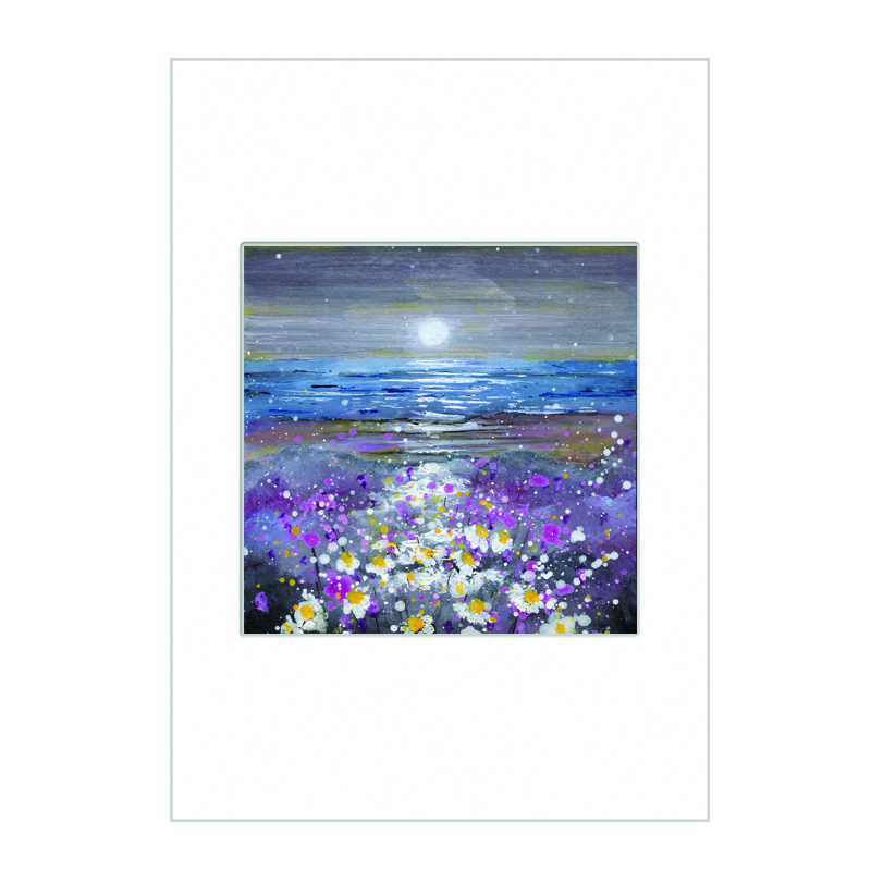 Moonlight on the Daisies Mini Print A4