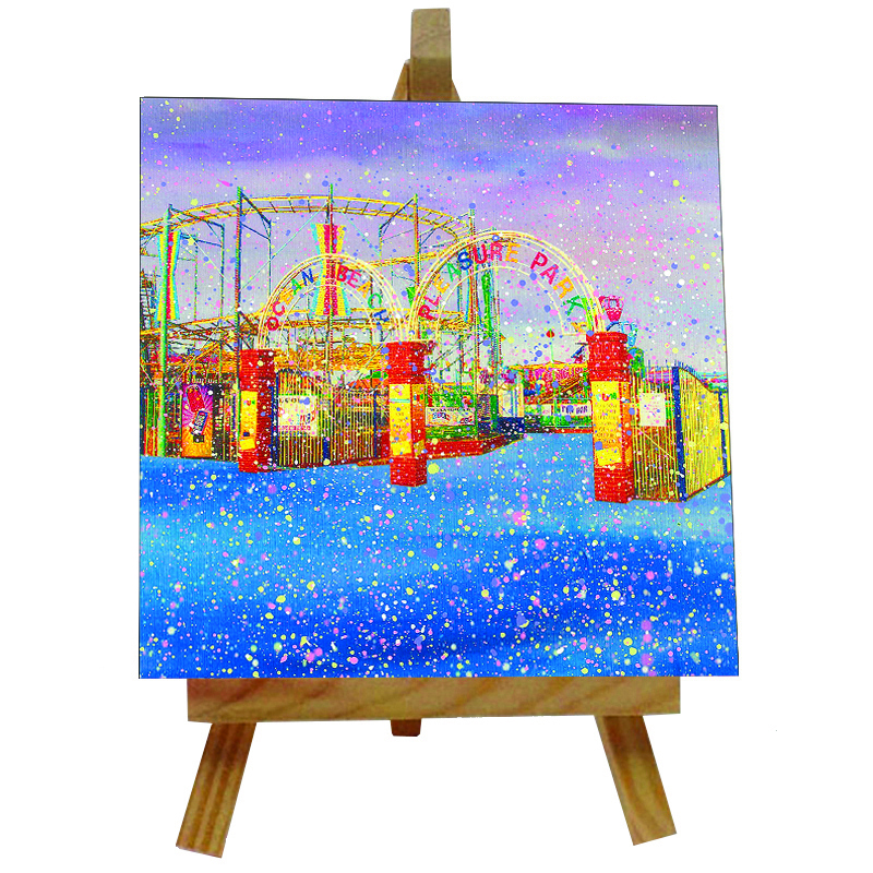 Ocean Park Tile with Easel