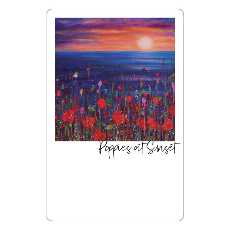 Poppies Sunset Magnet