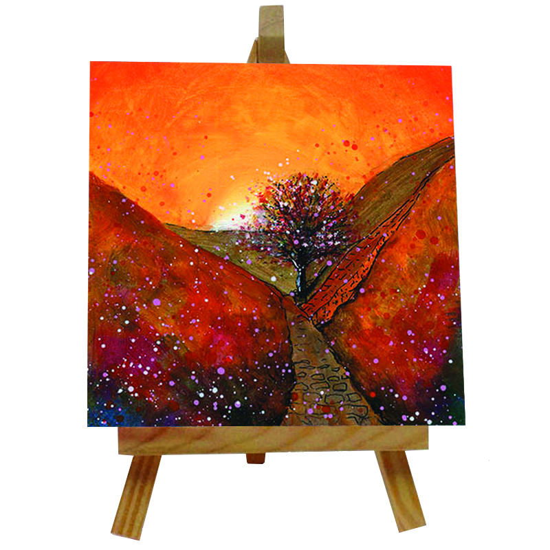 Sycamore Gap Autumn Tile with Easel