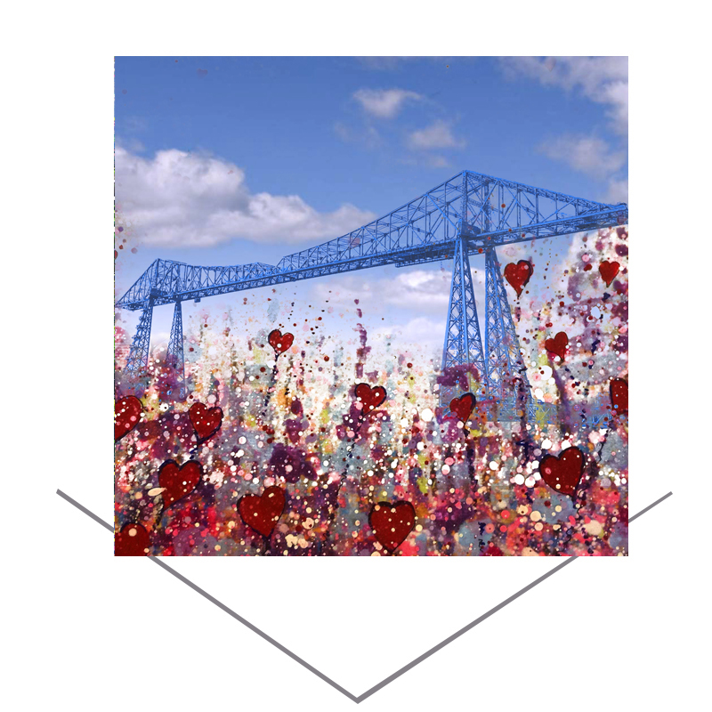 Transporter Bridge Greetings Card