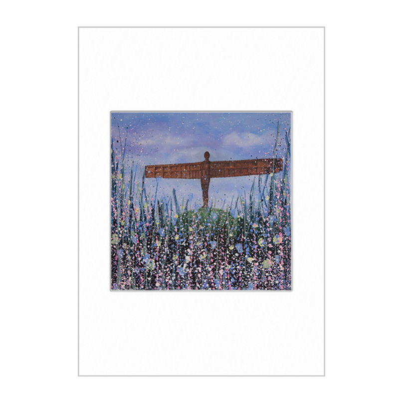 Angel of the North (Flowers) Mini Print A4