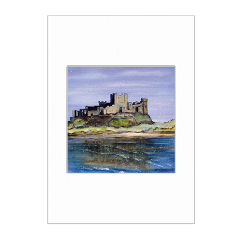 Bamburgh Castle Mini Print A4