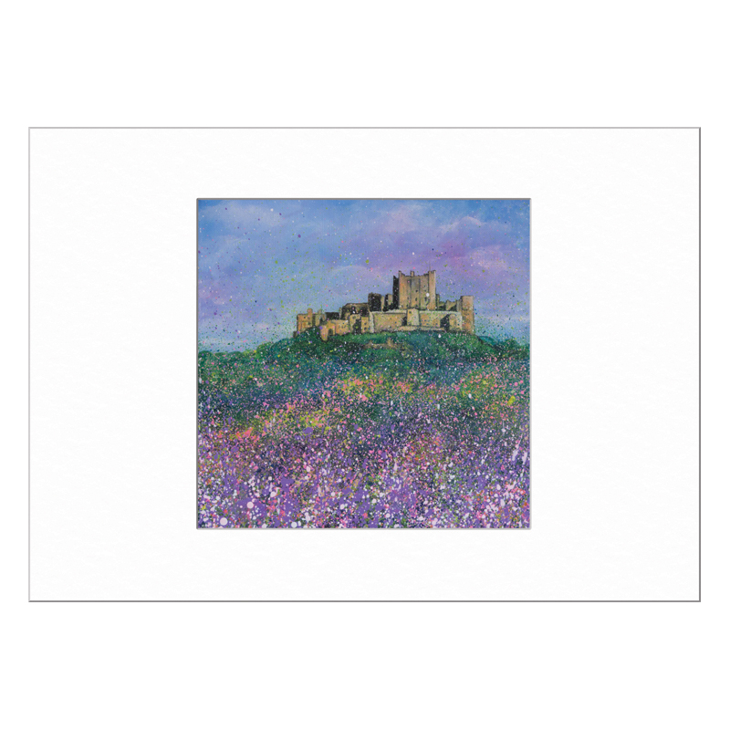 Bamburgh Castle Flowers Limited Edition Print 40x50cm