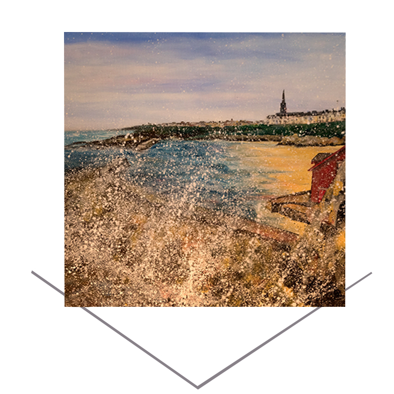 Cullercoats Harbour Greeting Card