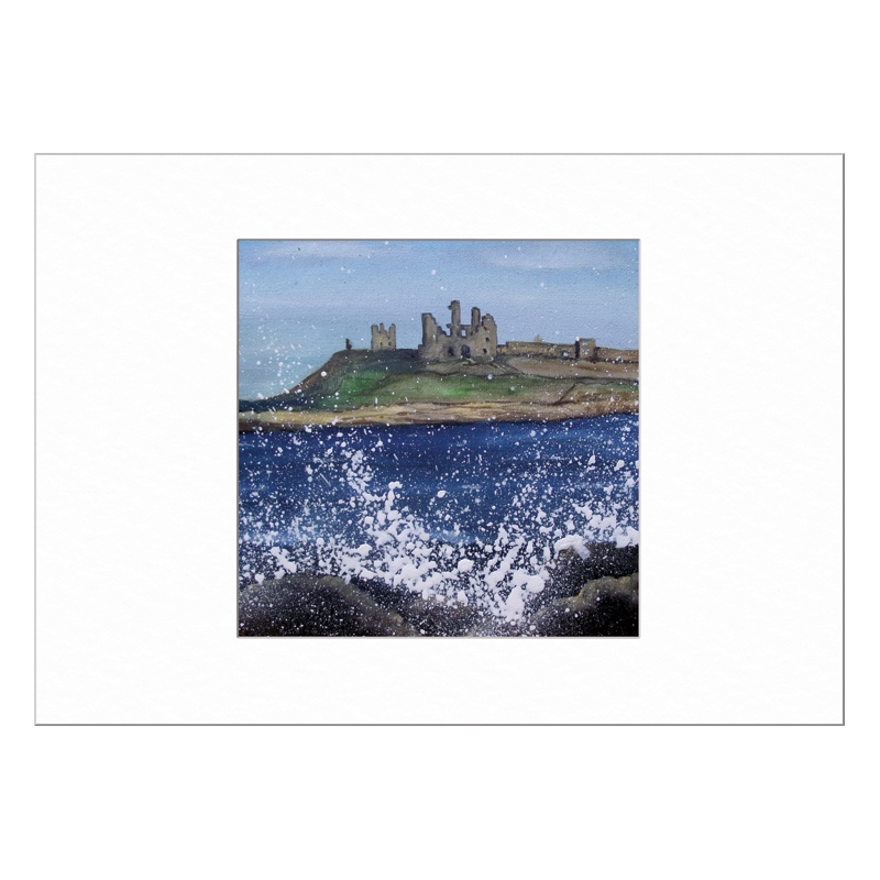 Dunstanburgh Castle Limited Edition Print 40x50cm